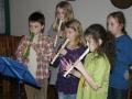 Žáci ZŠ Břehy s flétnami