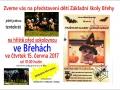 Plakát na školní představení z dílny obce Břehy