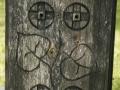 Detail zdobení sloupu zvoničky v Přepychách