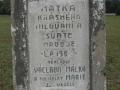 Detail nápisu na křížku u Veselí