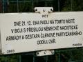 Památník boje skupiny partyzánského oddílu Záře (Zarevo) v Krasnicích