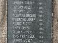 Detail jmen obětí 1. světové války na pomníku obětem válek v Bezděkově