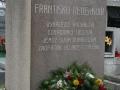 Pomník Františku Veverkovi na hřbitově v Přelouči