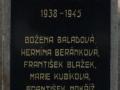 Pamětní deska obětí 2. světové války ve Starých Čívicích