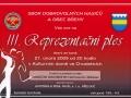 Pozvánka na 3. Reprezentační ples SDH a obce Břehy