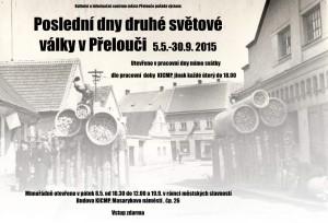 Plakát k výstavě Poslední dny druhé světové války v Přelouči